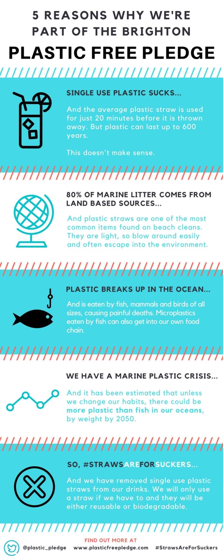 PLASTIC FREE PLEDGE infographic